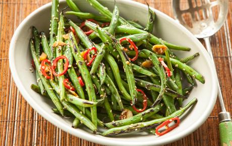 Fiery Wok-Seared Green Beans