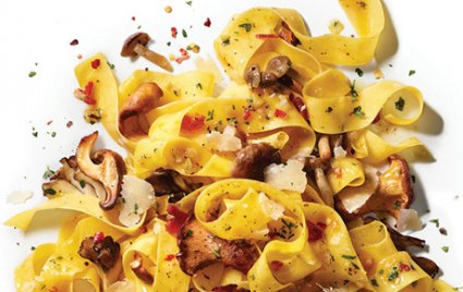 Pappardelle with Pancetta and Wild Mushrooms