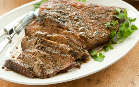 Roasted Brisket with Parsley, Mint and Thyme