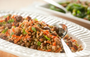Chestnut and Wheatberry Salad