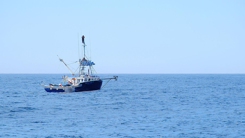 swordfish fishing boat in ocean