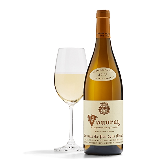Bottle of Domaine Pichot Vouvray wine
