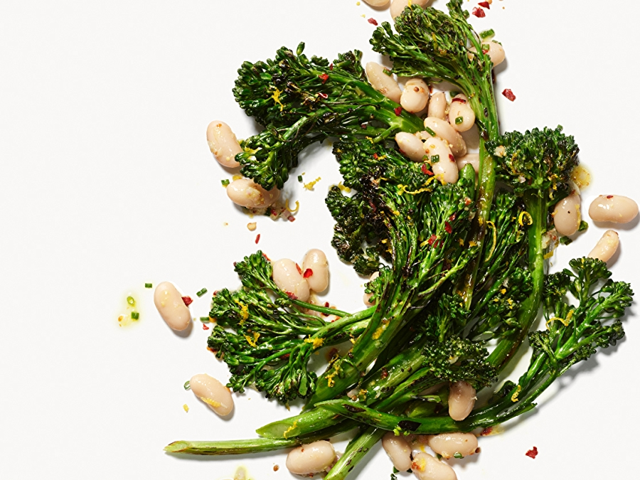Recipe for Lemony Broccolini with Cannellini Beans