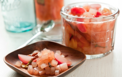 Pickled Watermelon Rind with Radishes