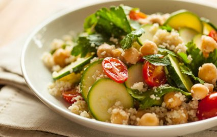 15-Minute Couscous Salad with Zucchini and Parsley