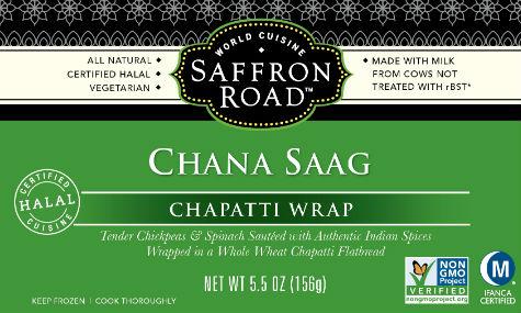 Saffron Road Chapatti Wraps