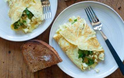 cauliflower omelet for two recipe