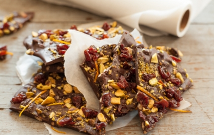 Cherry-Pistachio Crunch Bark