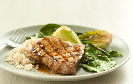 Grilled Chile-Garlic Swordfish