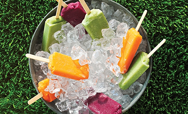bright fruit pops in ice