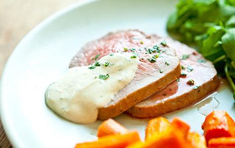 Roast Eye of Round with Dijon and Horseradish