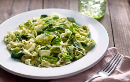 Zucchini Noodles with Almond Pesto