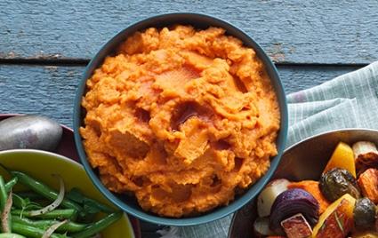 Orange Mashed Sweet Potatoes