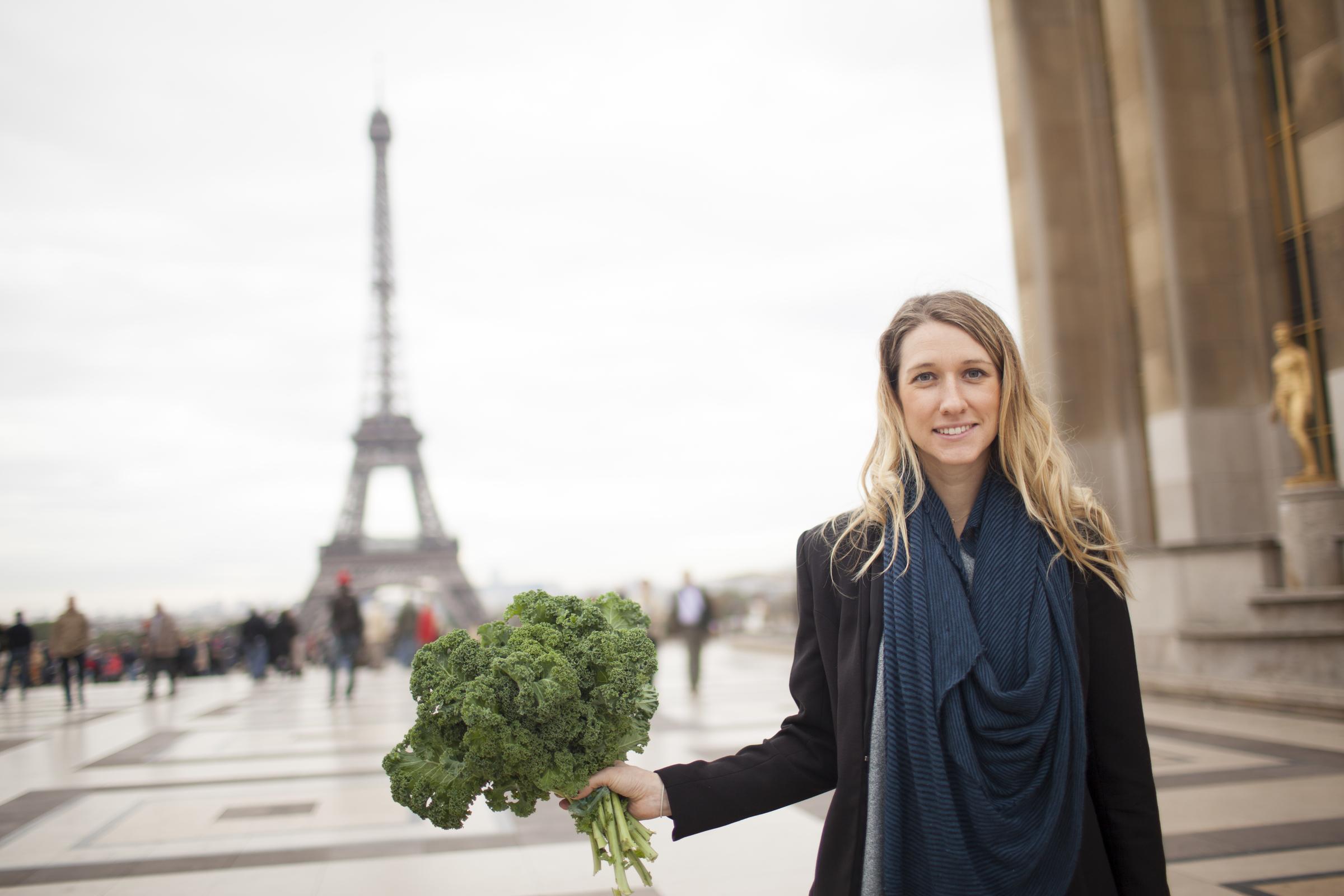 Kristen Beddard with kale