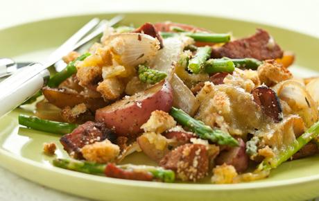Ham and Asparagus Skillet Meal
