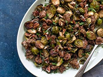 Photo: Roasted Brussels Sprouts with Sausage