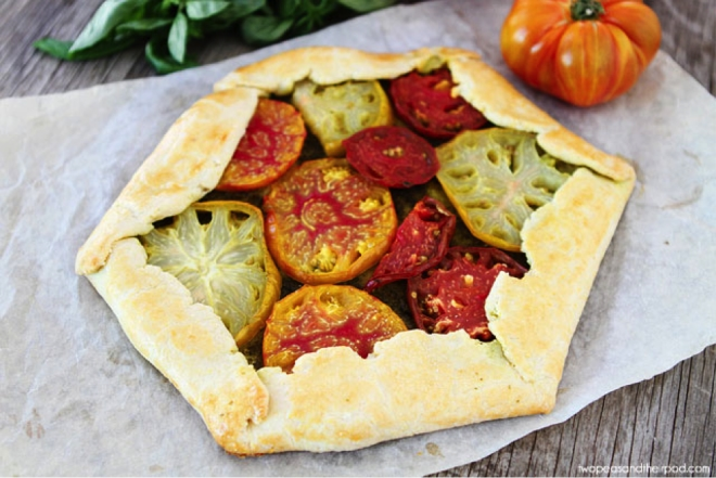Heirloom Tomato Pesto Galette, Photo courtesy of Maria Lichty of Two Peas and Their Pod
