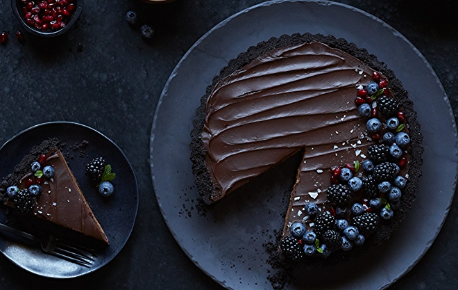 vegan chocolate mousse tart recipe