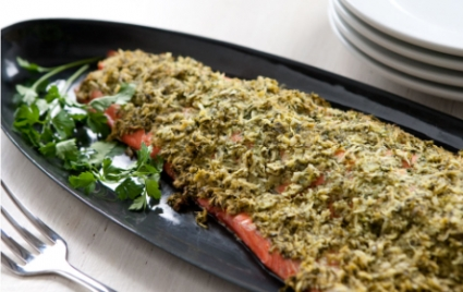 Salmon with Parsley-Horseradish Crust