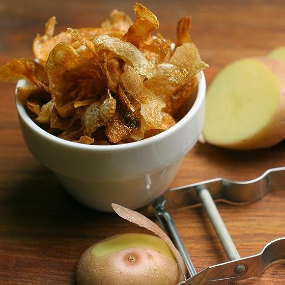 bowl of crispy potato skins