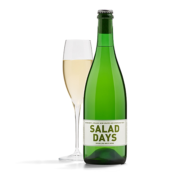 bottle of Field Recordings Salad Days Sparkling White Wine