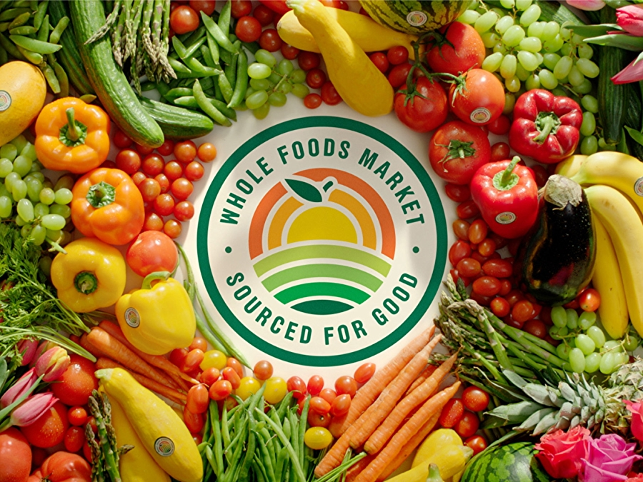 sourced for good seal surrounded by fresh produce