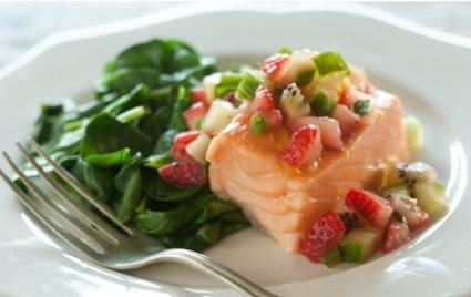 salmon with salsa