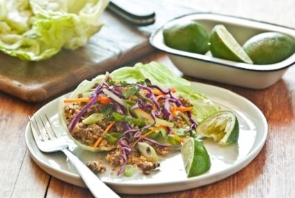 Grass-Fed Beef and Couscous Lettuce Wraps