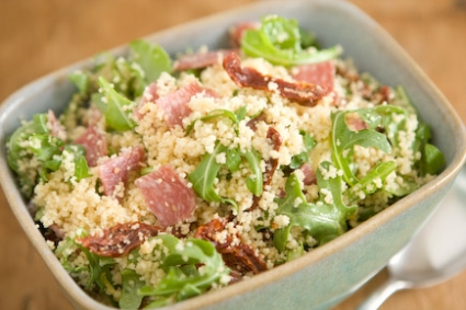 Sun-Dried Tomato and Salami Couscous Salad