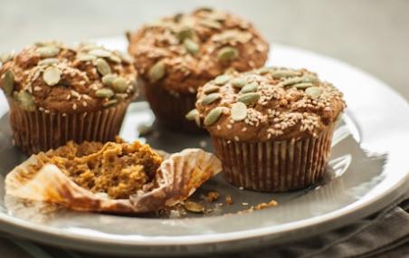 Whole Wheat Pumpkin-Yogurt Muffins