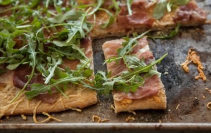 Parmigiano-Reggiano, Prosciutto and Arugula Flatbread