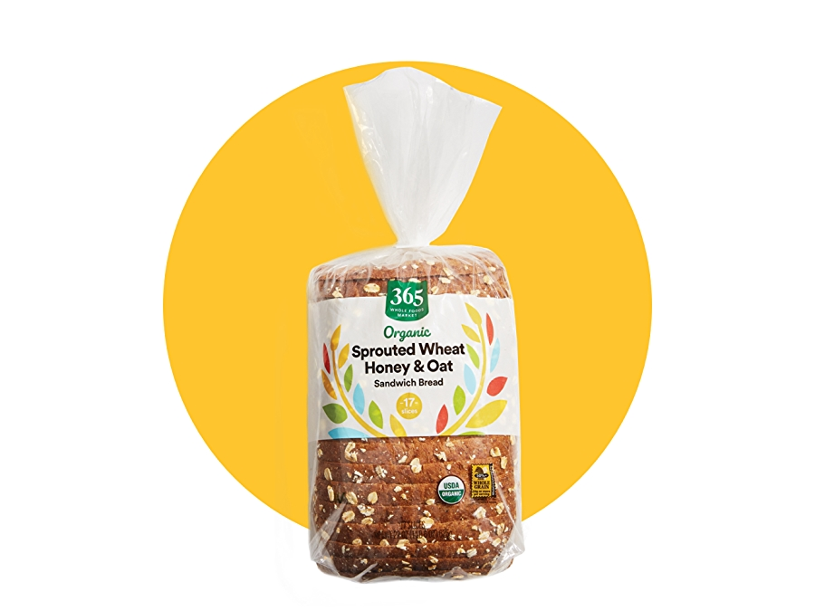 365 by whole foods market sprouted wheat honey & oat bread