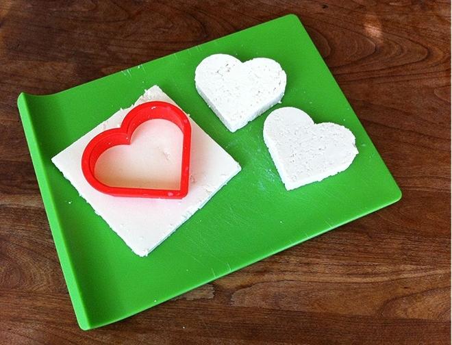 Heart-Shaped Tofu Cutlets
