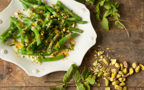 Green Beans with Mint and Satsumas