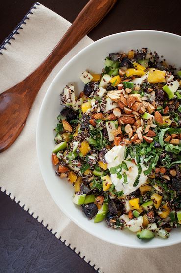 Black Quinoa Chopped Salad. Photo by Melanie Grizzel
