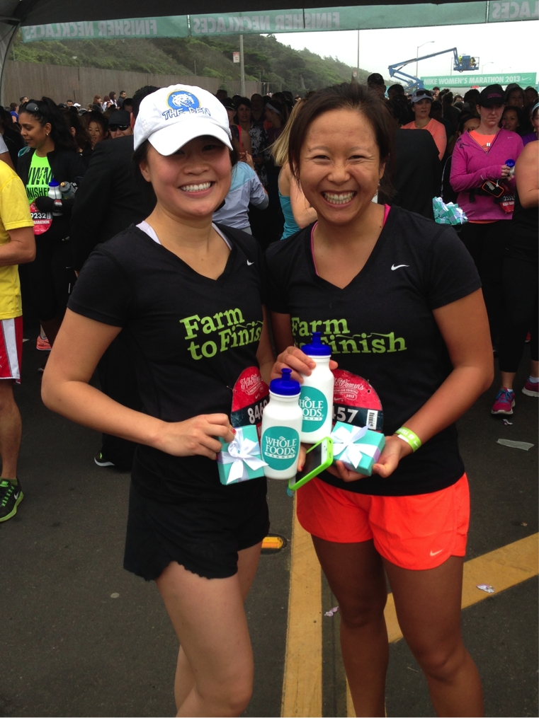 At the finish line from last year's race 2013 with my roommate Naomi (on the left) :: Photo by Jennifer Lo