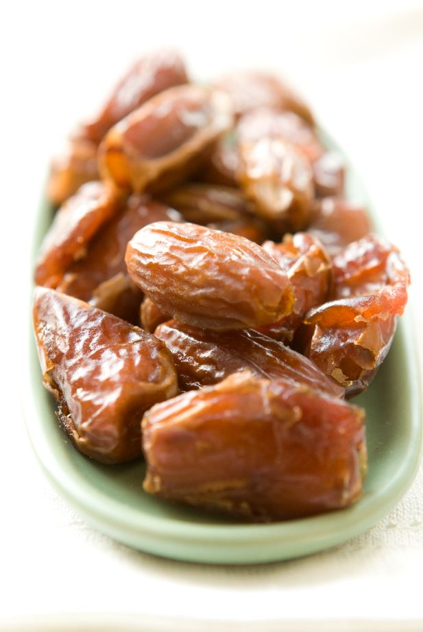 Plate of dried dates.