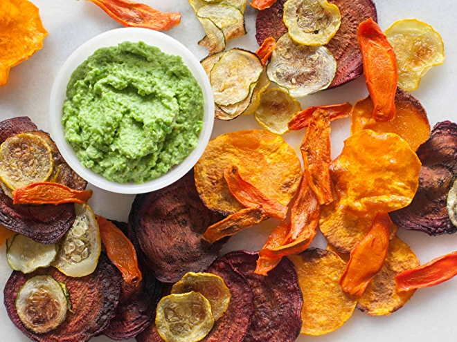 Image of homemade veggie chips.