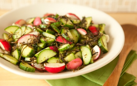 Cucumber, Radish and Seaweed Salad