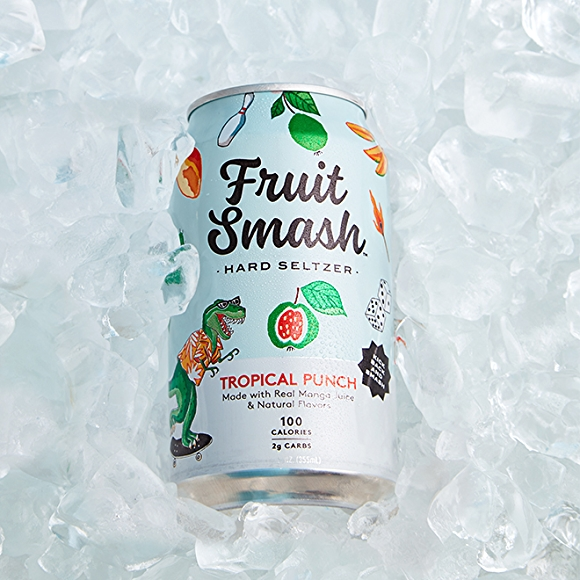 Fruit Smash Tropical Punch Seltzer drink