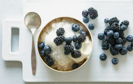 Lemonade Ice with Whipped Yogurt