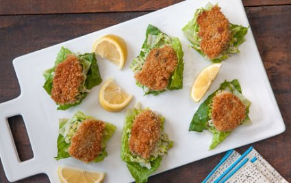 Crispy Baked Oyster Caesar Salad Bites