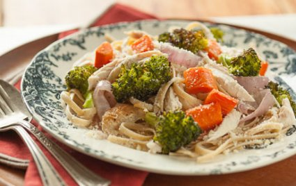 Rotisserie Chicken and Vegetables with Noodles