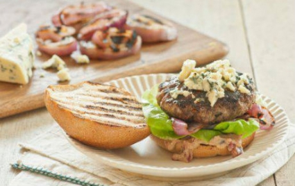 Big Blue Burgers with Cherry Mustard