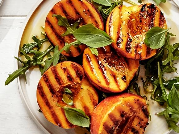 Recipe: Grilled Peaches and Arugula
