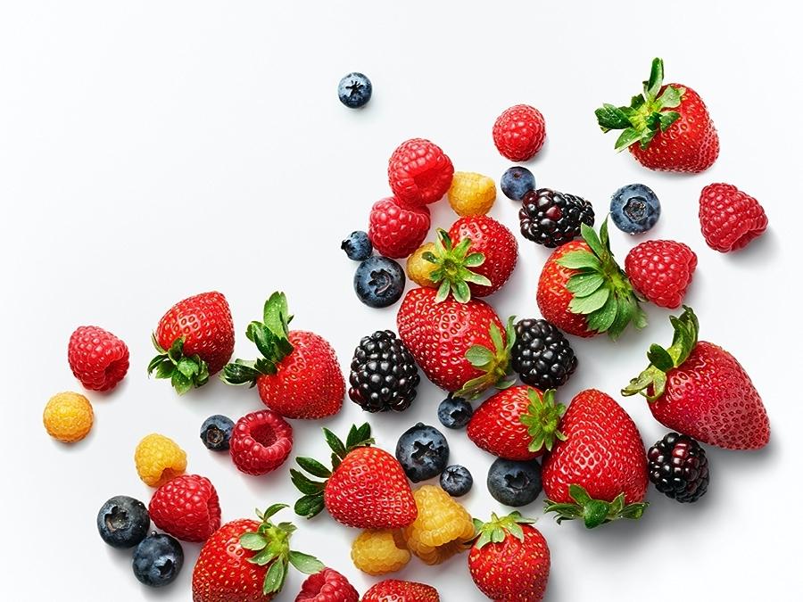 Berries: Strawberries, Raspberries, Blueberries, Blackberries