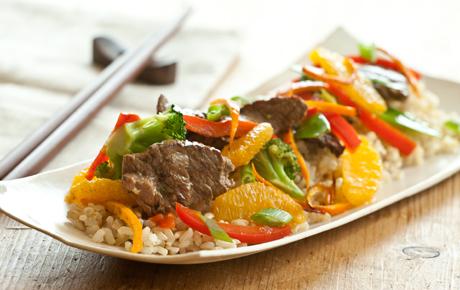 Satsuma Beef and Vegetable Stir-Fry