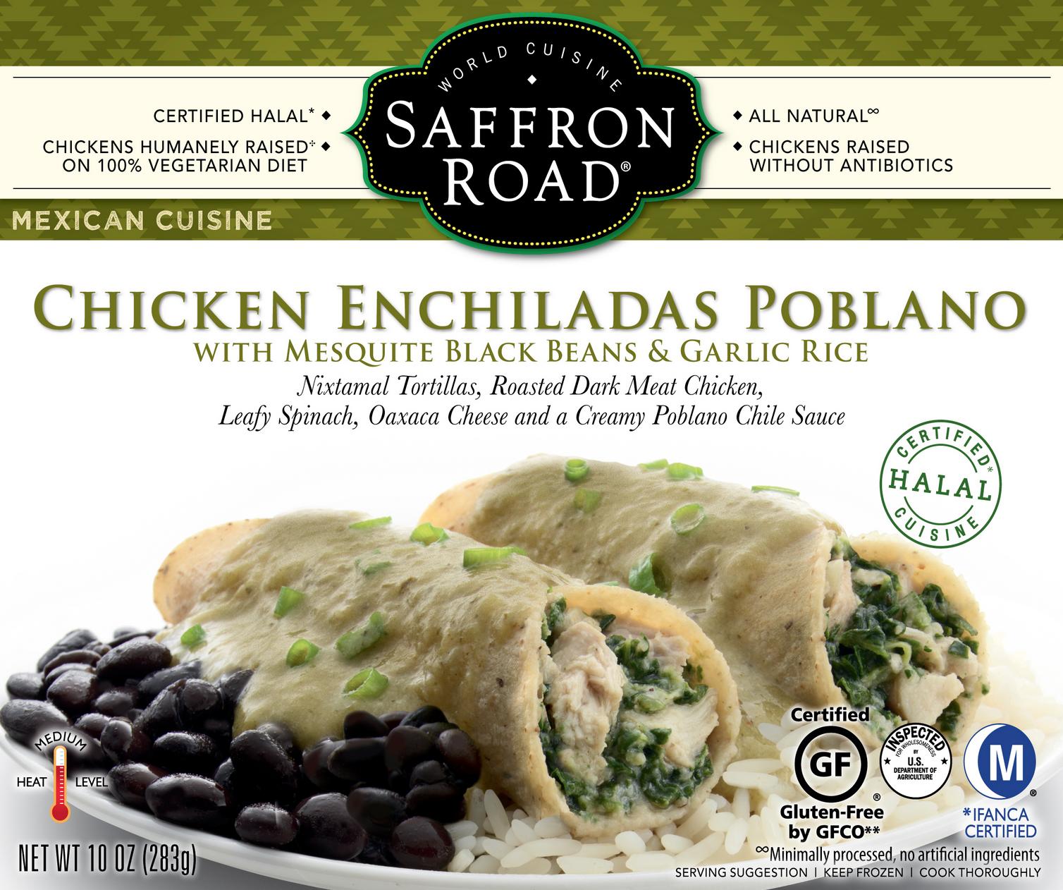 Saffron Road Chicken Enchiladas