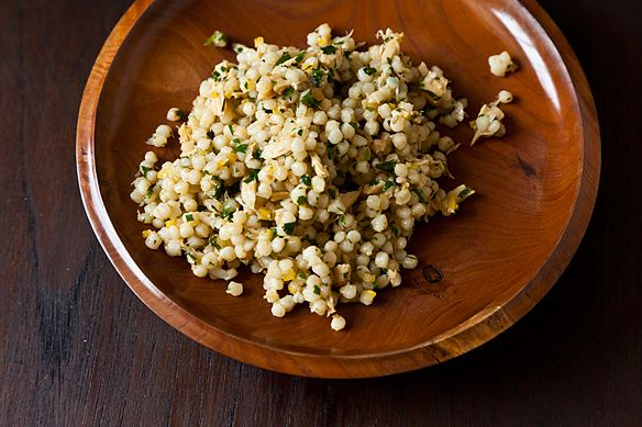 Herbed Tuna and Israeli Couscous Salad with Cumin, Coriander and Citrus