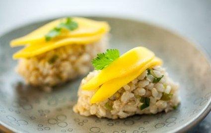 mango crab sushi